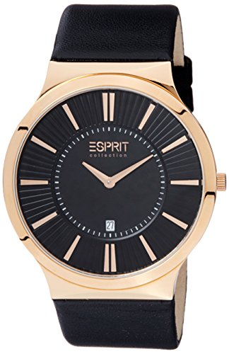 Esprit Collection Herren-Armbanduhr Leodor Analog Quarz Leder