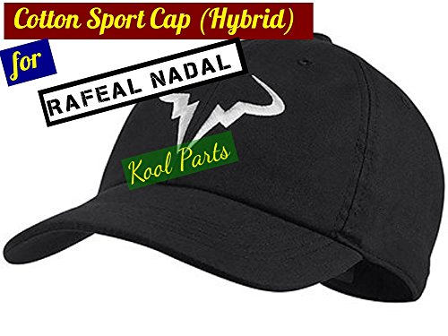 Kool Parts: Rafael Nadal Cotton Sport Caps Hat (Black Colour)