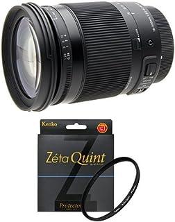 SIGMA 高倍率ズームレンズ Contemporary 18-300mm F3.5-6.3 DC MACRO OS HSM キヤノン用 APS-C専用 886547 + Kenko カメラ用フィルター Zéta Quint プロテクター 72mm セット