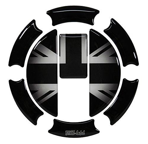Tankdeckel-Pad 3D 650004 Union Jack Silver Tank-Schutz für Triumph-Tank