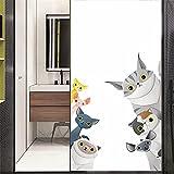 Xijier Vinilo decorativo para ventana de gatito, no adhesivo, de cristal, esmerilado, para puerta, ventana, ventana, 40 x 160 cm