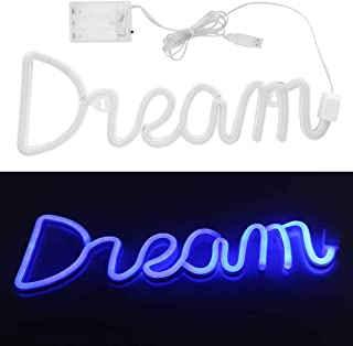 Art Wall Decorative Lights USB LED Light, LED Neon Light, Unique Innovative Dream Shape Neon Signs, for Kid's Room for Party
