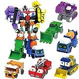 LUSTAR Transformers Robot 6 in 1 Juguete Figura de acción Estudio, Deluxe Guerrero Mech Creativo Serie Manual Transform Set Toys Niños cumpleaños Regalo
