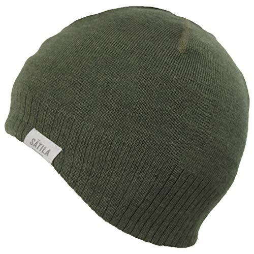Sätila Damen Herren Mütze Hill Beanie, Farbe:dunkelgrün