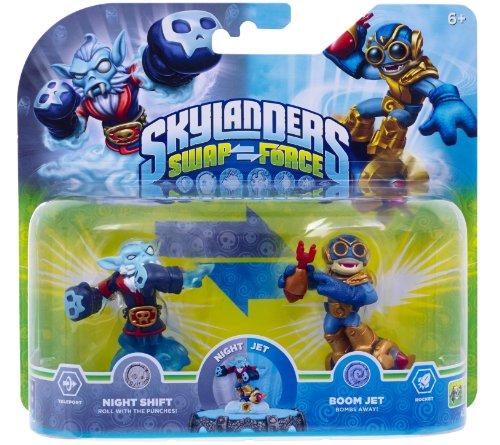 Skylanders Swap Force - Double Pack 3 - Boom Jet, Night Shift [Importación Alemana]
