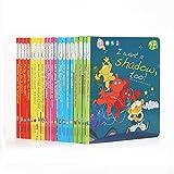 GonFan Los Libros para niños 20 Inglés Inglés Libros ilustrados for niños 0-6-8 años de la Ilustración cognitivos Hábitos Formación (Color : Multi-Colored, Size : 20x19x17cm)