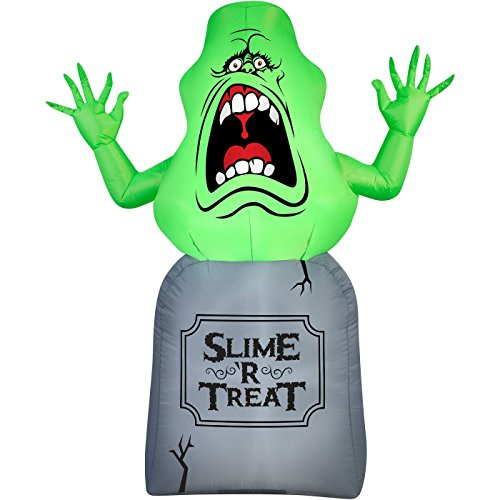 Halloween Inflatable 5 Slimer on Tombstone Ghost Busters Prop...