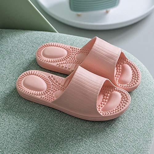 wenhua Dusch-& Badeschuhe Leichte,Fußmassage-Hausschuhe, rutschfeste Hausschuhe für das Fußbad, Nude_39-40Fußreflexzonenmassage Sandalen