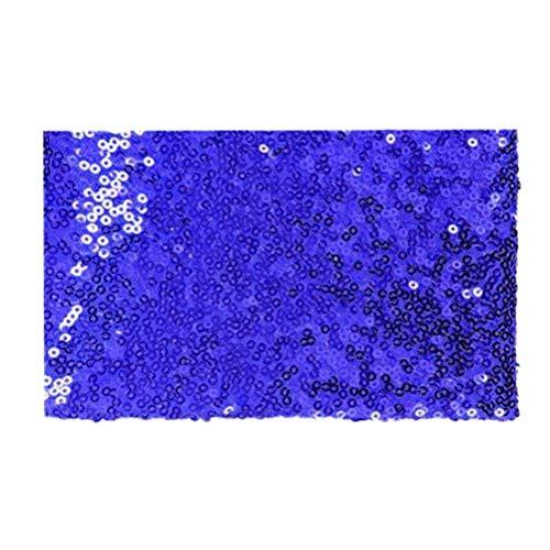 Uonlytech Tela de Lentejuelas Brillante de 3 mm Fácil de Cortar Tela de Vestuario para Confeccionar manteles, manteles, Vestidos 135x100cm (Zafiro)