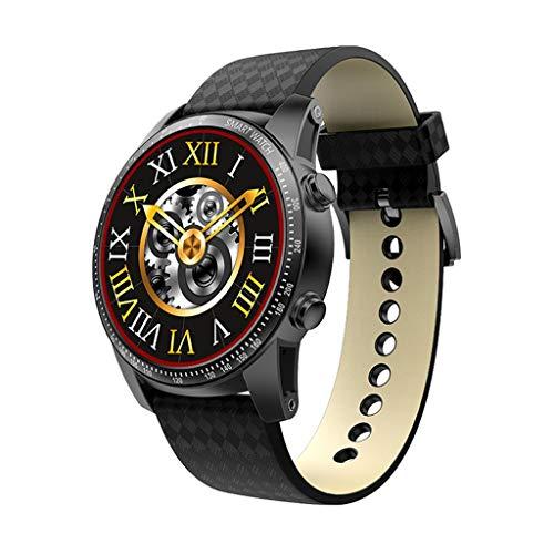 HHJEKLL Intelligentes Armband 3G Smartwatch Telefon Android 5.1 Quad Core 8GB ROM Pulsmesser Schrittzähler GPS Anti verloren Smart Watch, schwarz