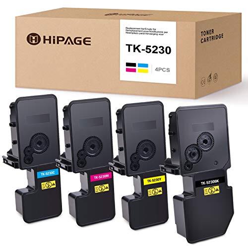 HIPAGE TK5230 TK 5230 Toner Ersatz für Kyocera TK5230 TK 5230 Kompatibel zu Kyocera ECOSYS P5021cdn P5021cdw M5521cdn M5521cdw (Schwarz/Cyan/Magenta/Gelb)
