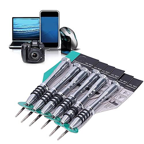 Juego de destornilladores, diseño de anillo de goma antideslizante Ligero Hrc52-54 Destornillador cruzado de dureza para tabletas para teléfonos móviles para cámaras(Cross 1.8)