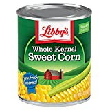 Libby's Whole Kernel Sweet Corn | 100% Sweet Corn | Naturally Sweet Flavor | Golden Yellow | Just-Off-the-Cob Crispness | Kosher | 8.5 ounce cans (Pack of 12)