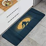KGSPK Anti Fatigue Kitchen Rugs Cartoon Werewolf Silhouette Halloween Night Moonlight Ghost Horror Scene Animal Comfort Non-Slip Doormat Mat Area Rug for Floor Home,Office,Sink,Laundry