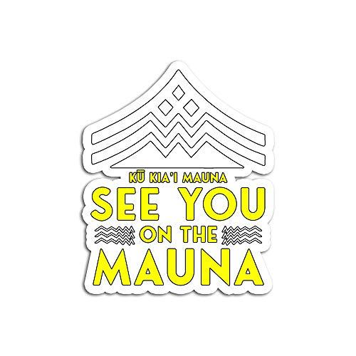 Hand Wooden Customizable Pegatinas Personalizables de Madera de KU Kiai Mauna See You On The Stickers para Personalizar (3 Piezas/Paquete)