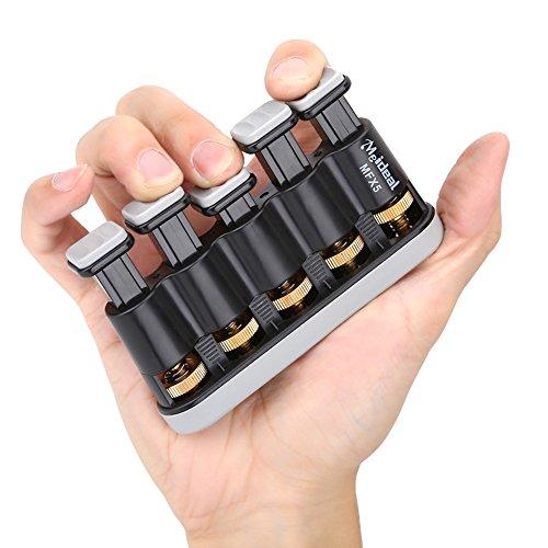 Einstellbarer Fingertrainer, Handtrainingsgerät für Gitarre, Trompete und Klavier(Grau)