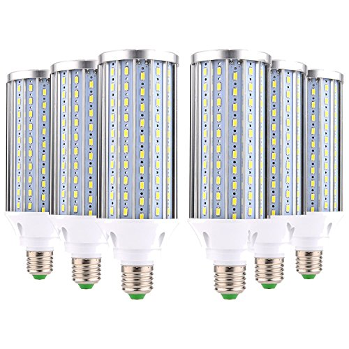 BRIGHTZ Bombilla de luz LED E27 LED bombilla del maíz E26 / E27 Medio Base 160LED 60 vatios (recambio equivalente 350W lámpara halógena) Enfriar luz del día la calle LED blanco y Luz Área de garaje al
