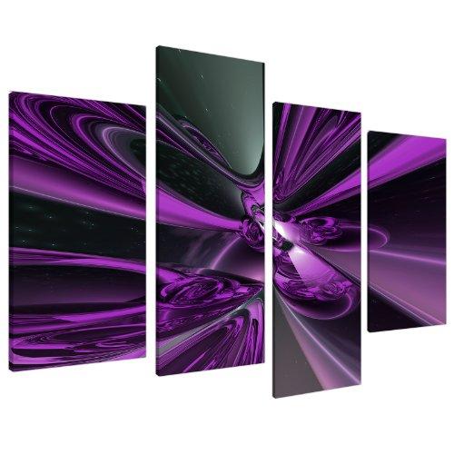 Fotolijst 4018 XL-kunstschilderijen op canvas, abstract motief, 130 cm, violet