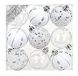 Inge-glas Bolas de Cristal decoración para árbol de Navidad, plástico, weiß (81074G002-MO), 18,1 x 16,6 x 6,6 cm