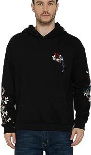 Men's Embroidered Hoodie Print Hooded Sweatshirt Unisex Pullover