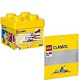 Lego Classic 10692 10701 - Juego de 2 bloques de construcción y placa base gris