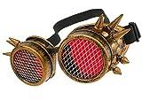 MFAZ Morefaz Ltd Gafas de Sol Welding Cyber Goggles with Spikes Steampunk Goth...