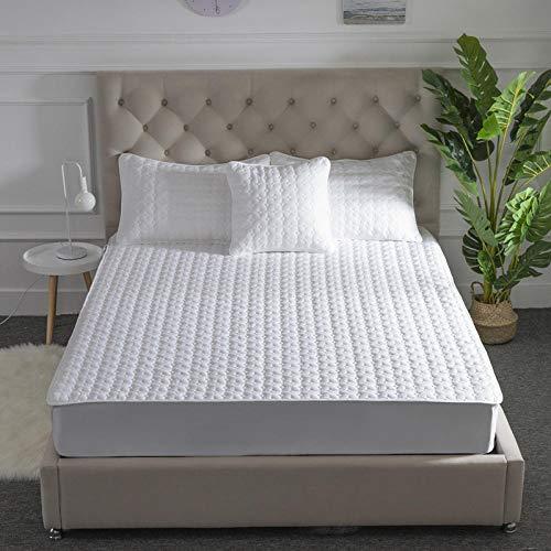YFGY Spannbettlaken Wasserbetten Und Normale Matratzen, Cotton Matratze Protector Matratze Topper, hypoallergene Bettdecke für Einzel Doppel Super King Bett 160 * 200cm weiß