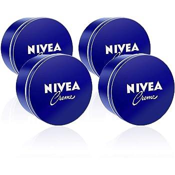 NIVEA Creme en pack de 4 (4 x 400 ml), crema hidratante de manos ...