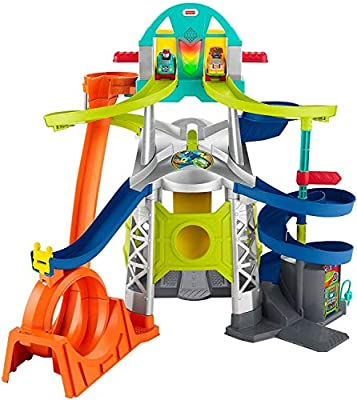 Fisher-Price Little People Launch and Loop Raceway, vehicle playset for toddlers and preschool kids from Fisher-Price