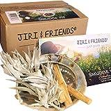 Smudge Kit Jiri & Friends Salvia Blanca y palo santo y Abalone caracola Comercio Justo incienso Juego White Sage Incienso