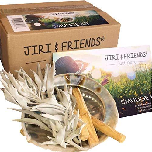 Smudge Kit Jiri & Friends Salvia Blanca y palo santo y Abalone caracola Comercio Justo incienso...