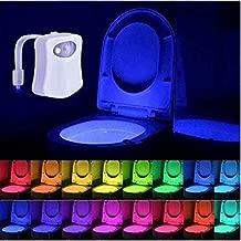 detecci/ón de luz toilet light Luz de Inodoro Recargable WC luz nocturna 12 Cambio de Color Elimi LED Luz de Inodoro Luz con Detecci/ón de movimiento del sensor autom/ático inclu/ídas Bater/ía
