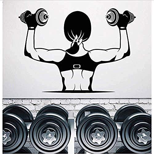 Pegatinas De Pared Gym Muscle Girl Cita Calcomanías Artísticas Para El Dormitorio En Casa Oficina Diciendo Mural Papel Tapiz Regalo De Cumpleaños 42X58Cm