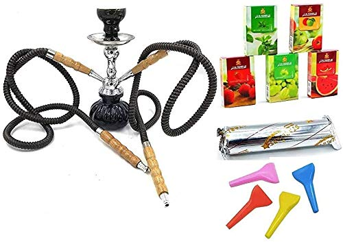 11 ' Hookah Full Set 2 Hose Hookah with Complete Set with Accessories and coals,Tips and Flavor