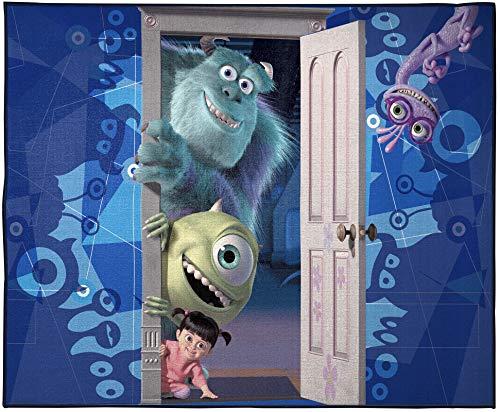 Jay Franco Disney Monsters Inc Scare - Alfombra para habitación de equipo – Tamaño grande de 10,7 x 1,5 m Características Mike Wazowski, James Sullivan y Boo (producto oficial de Disney) ⭐