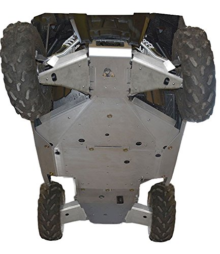 Polaris, RZR-S 1000, RZR-S 900, 10 piece Complete Skid Plate Set by Ricochet Includeing Full Frame Skid Plate Set, Front and Rear A-Arm/CV Boot Guards, Rock Sliders, Footwell Protection
