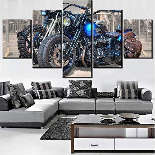 Baobaoshop 5 high-Definition Druck ölgemälde Motorrad ölgemälde leinwand wandkunst malerei Dekoration Wohnzimmer leinwand ölgemälde Dekoration-Kein Rahmen