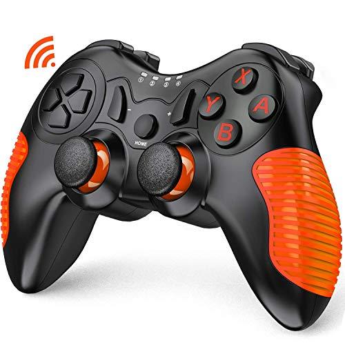 「2021最新版」Switch コントローラー BEBONCOOL スイッチ コントローラー HD振動 無線 ニンテンドー スイッチ 対応 任天堂 プロ コントローラー オレンジ