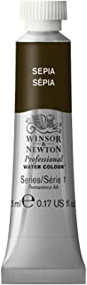 Winsor & Newton Professional Water Colour Paint, 5ml tube, Sepia