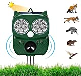 Ultraschall Abwehr mit Solarbetrieb und Blitz gegen Katzen, Hunde, Marder, Tierabwehr, Katzenschreck Hundeschreck Marderschreck
