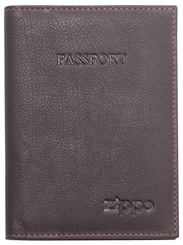 Zippo - Cartera de Piel para Hombre (14 cm), Color marrón