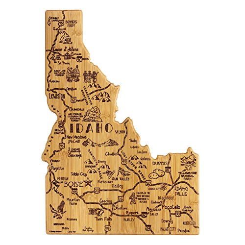 Totally Bamboo Idaho State Destination Bamboo Serving and Cutting Board
