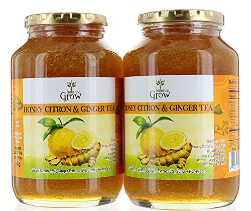 BALANCE GROW HONEY CITRON & GINGER TEA 2.2 LB (PK OF 2)