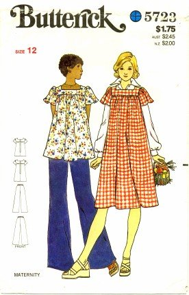 Butterick 5723 Sewing Pattern Misses Maternity Dress Top Pants Size 12 - Bust 34