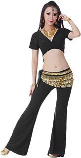 YiJee Femme Danse du Ventre R/étro du Ventre Danse Indienne Costume Set