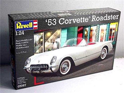 Revell Modellbausatz Auto 1:24 - 53 Corvette Roadster im Maßstab 1:24, Level 4, originalgetreue Nachbildung mit vielen Details, 07067
