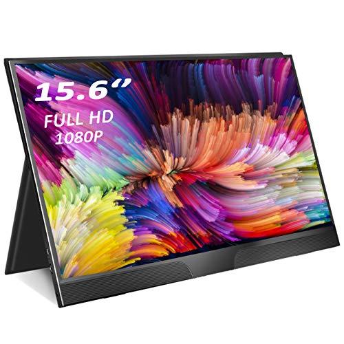 "Monitor Portátil HDMI, Eviciv Pantalla Portatil Gaming 15.6"" 1080P Full HD IPS Monitor Portátil USB C con Dos Altavoces para Ordenador, Laptop, Phone, Xbox One Switch PS3 PS4 Pro PS5"