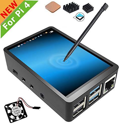 Für Raspberry Pi 4 Touchscreen mit Tasche, 3,5 Zoll Touchscreen mit Lüfter, 320x480 Monitor TFT LCD Game Display
