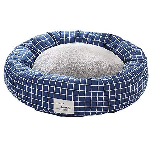thematys Hunde-Bett mit wendbarem Kissen I Katzen-Bett I Kuschelbett Weich I Hundekissen I Hundekorb in 2 verschiedenen Größen und 8 Farben (M (50 x 20 cm), Style 2)