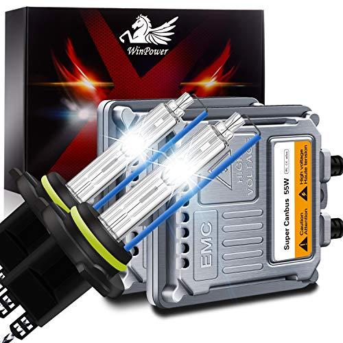 WinPower Hir2/9012 55W AutoHID Xenon Kit mit Vorschaltgerät und CAN-Bus Super DecoderScheinwerfer Ersatz Birne 8000K Eisblau,2 Stücke